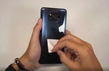 Xiaomi POCO X3 video zadní fotoaparáty panel
