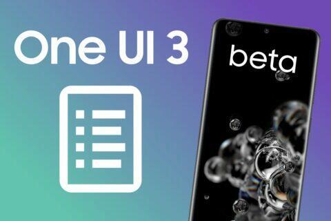 změny One UI 3.0 beta