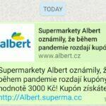 Albert kupón WhatsApp podvod