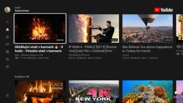 aplikace youtube google tv