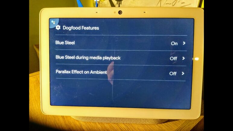"""Blue Steel on Google Nest Hub Max - that is issuing commands Google Assistant without """"Hey Google"""""""
