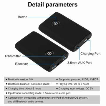Chytrá past na myši Tuya Bluetooth receiver transmitter Vikefon parametry