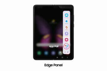 Galaxy Fold bezdrátový DeX Boční panel s App-pair