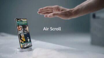 EMUI 11 zajímavé funkce bezdotyková gesta Air Scroll