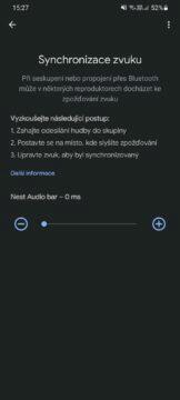 Google Home synchronizace zvuku