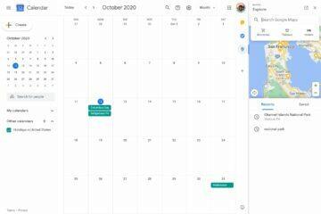 google kalendar mapy integrace