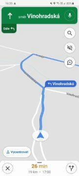 Google Mapy navigační ikony aut klasická šipka