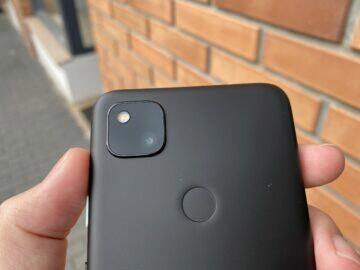 Google Pixel 4a fotoaparát