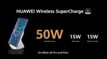 Huawei Mate 40 řada bezdrátové nabíjení