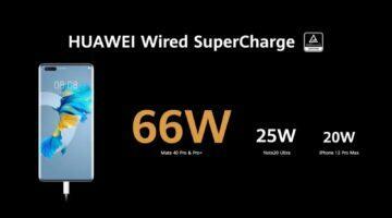 Huawei Mate 40 řada rychlonabíjení