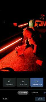 LED tma chladné tóny