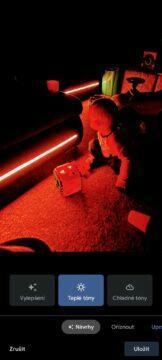 LED tma teplé tóny