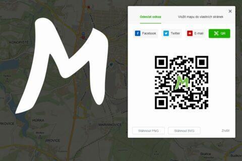 Mapy.cz QR kód