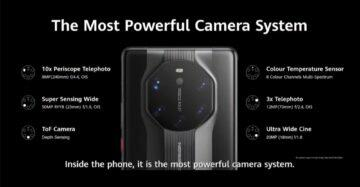 Mate 40 RS fotoaparáty