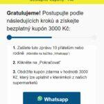 Messenger WhatsApp Albert kupóny gratulace