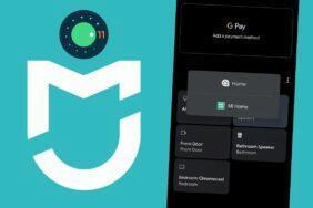 Mi Home Android 11 rychlé přepínání