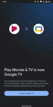 nová aplikace Google TV uvítací obrazovka