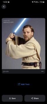 nová aplikace REFACE Obi Wan Kenobi