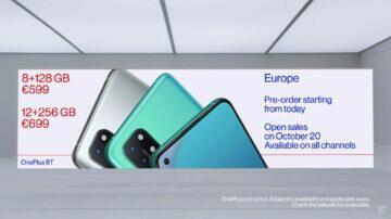 OnePlus 8T specifikace ceny představení evropa