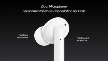 parametry Realme Buds Air Pro ANC mikrofony