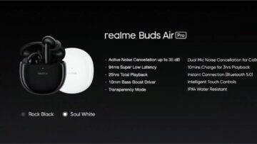 parametry Realme Buds Air Pro přehled