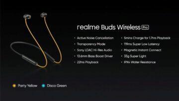 parametry Realme Buds Wireless Pro přehled