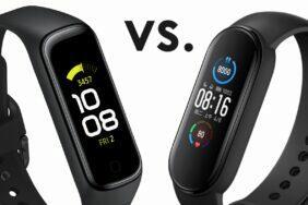 porovnání Xiaomi Mi Band 5 a Samsung Galaxy Fit2