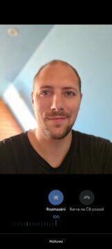 Fotky Google nový editor portrét posuvníky rozmazání pozadí 100
