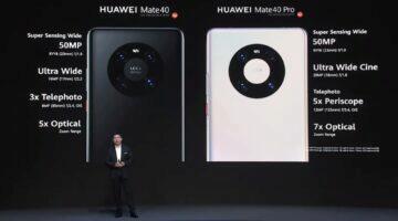 řada Huawei Mate 40 fotoaparáty