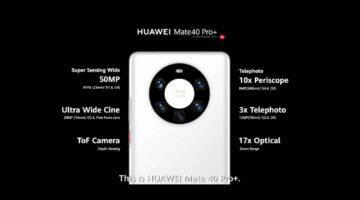 řada Huawei Mate 40 fotoaparáty Pro+