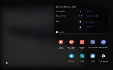 Samsung Galaxy Tab S7 DeX bezdotykové ovládání