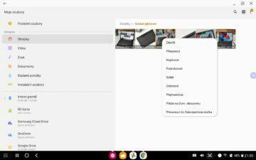 Samsung Galaxy Tab S7 DeX správce souborů 2