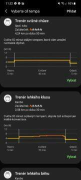 Samsung Health trenéři běhu