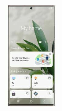 Samsung SmartThings Find hlavní obrazovka