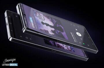 Samsung telefon s výklopným displejem patent celkový pohled