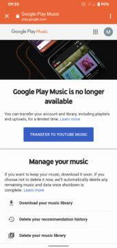 služba google play music oficiálně končí
