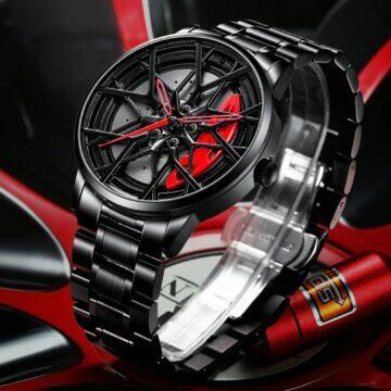 tipy na extravagantni hodinky Nibosi liťáky na zápěstí černá