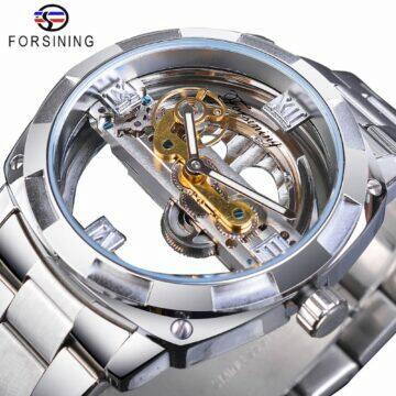 tipy na extravagantni hodinky Průhledný kruh od Forsining konstrukce