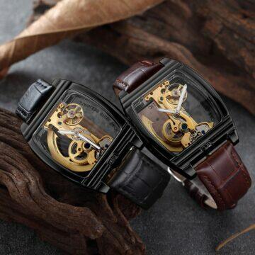 tipy na extravagantni hodinky Samonatahovací steampunk cerna