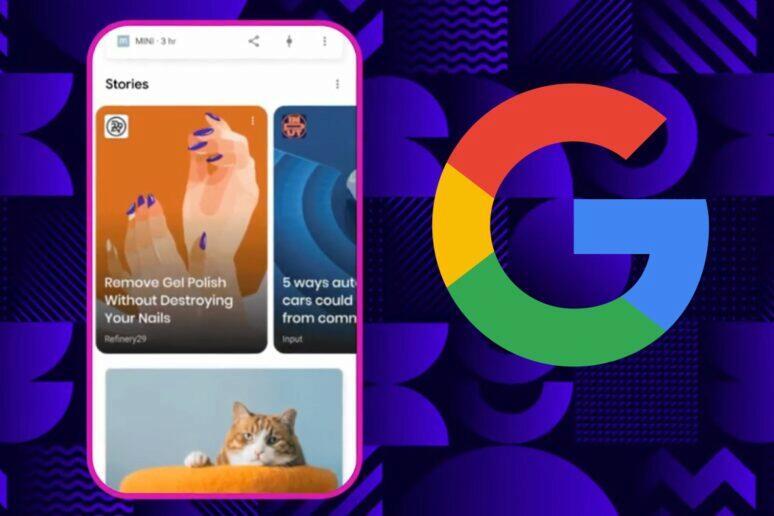 Web Stories v aplikaci Google