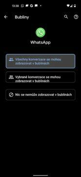 whatsapp chatovací bubliny