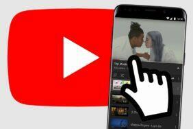 YouTube Android posouvání klepnutím