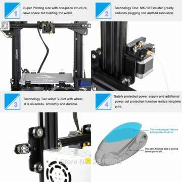 3D tiskárna CREALITY Ender-3 funkce
