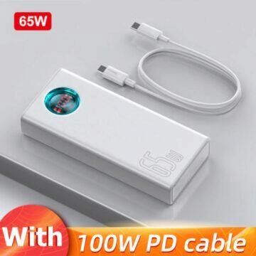 akční ceny 11.11 2020 65W powerbanka Baseus bílá