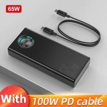 akční ceny 11.11 2020 65W powerbanka Baseus černá
