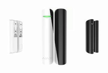 AJAX siréna tlačítko dveřní senzor AJAX DoorProtect bílá černá