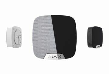 AJAX siréna tlačítko dveřní senzor AJAX HomeSiren bílá černá