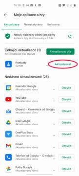 aktualizace google chrome android