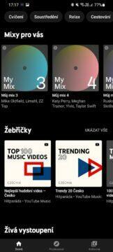 aplikace playlisty