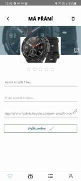 aplikace Tomikup.cz seznam přání detail produktu